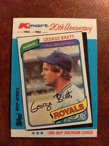 Details About 1982 Topps Kmart 20th Anniversary Baseball Card 38 George Brett