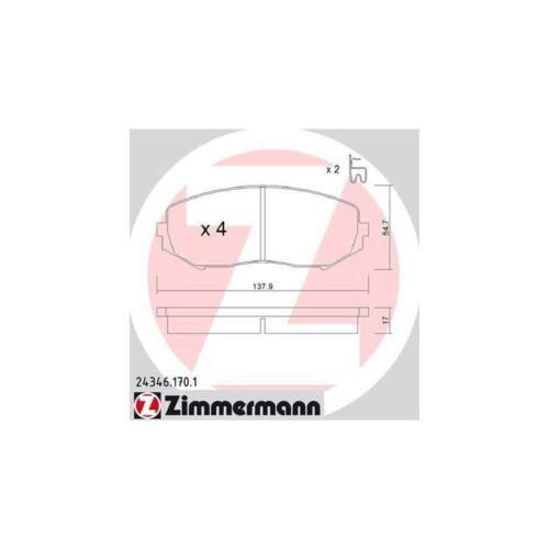 balatas delantero Suzuki Grand Vitara II JT Zimmermann Sport discos de freno