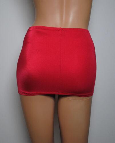Red Mini Skirt Stretch Lycra Party V Short BODYCON Club Womens Micro Dress CS29