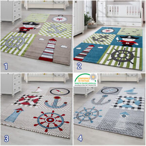 Nautical Theme Childrens Bedroom Carpet
