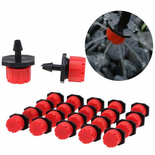 50PCS Adjustable Mini Garden Irrigation Sprinklers Micro Flow Dripper Head Drip