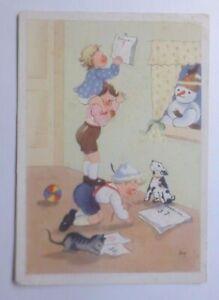 034-Neujahr-Kinder-Kalender-Katze-Hund-Spielzeug-Schneemann-034-1930