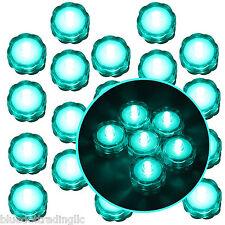 20 Pcs Turquoise Submersible Waterproof Underwater Battery LED Tea Light Wedding