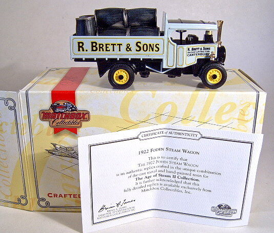 Matchbox models of Yesteryear 1922 1922 1922 Foden Steam Wagon nuevo en Box b64574