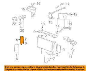 GM OEM Radiator-Baffle Right 15208496