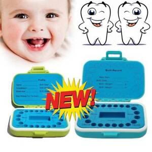 Kinder-Zahn-Box-Organizer-Milch-Zaehne-Holz-Aufbewahrungsbox-fuer-junge-Maedchen