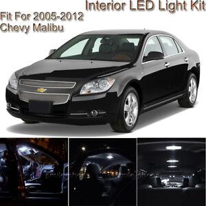 Details About For Chevy Malibu 2005 2012 White Interior Led Light Kit White License Light