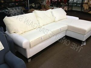 Pottery Barn Pb Basic Modular Loveseat Chaise Sofa Couch