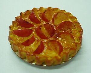 Apple-Pie-On-Tin-Pans-Dollhouse-Miniatures-Food-Bakery