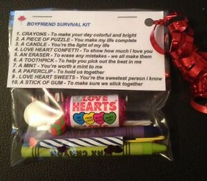 Image Is Loading Boyfriend Survival Kit Valentines Gift For Him Birthday