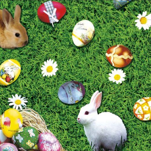 Pañuelo despierta mantel METERWARE Pascua conejo de pascua huevos de pascua k764-1 cuadrada alrededor del óvalo
