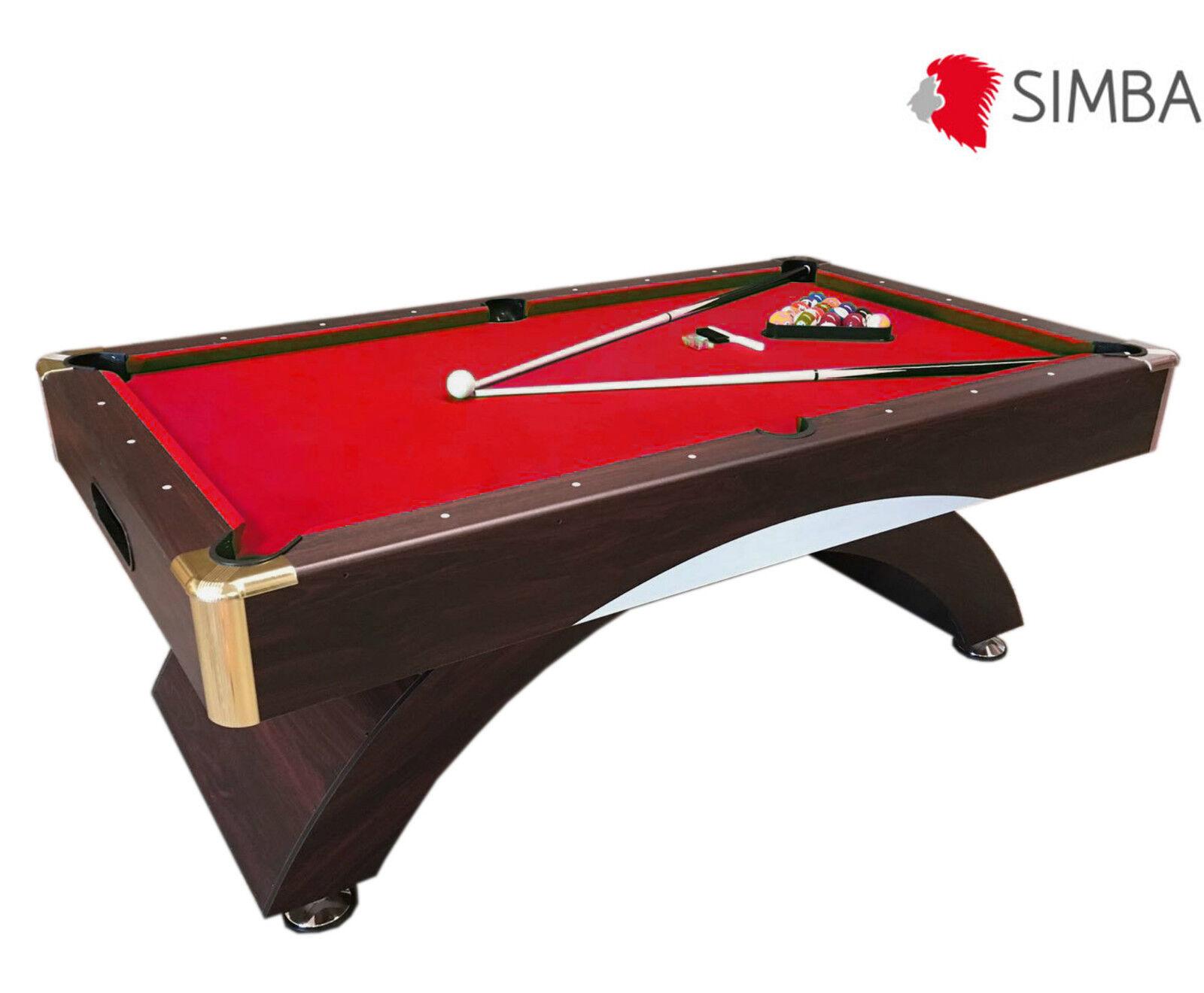 calidad oficial Mesa de billar juegos de billar pool pool pool 8 ft Cocheambola Medición 220 x 110 cm Caesar  buscando agente de ventas