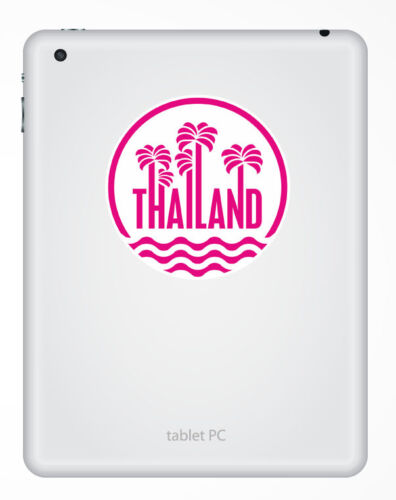 2 x 10cm Thailand Vinyl Sticker Decal Luggage Travel Laptop Car Girls Pink #6410