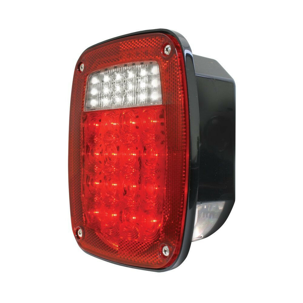 Jeep Style Led Tail Light Wled License Light Pair Semi