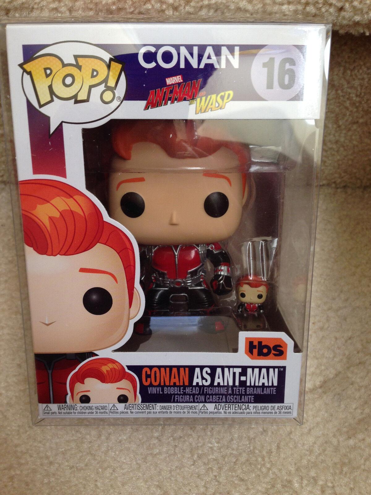 Funko Pop  16 SDCC Comic-Con 2018 Ant-Man Conan Con Exclusive NON-MINT Box