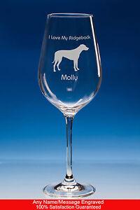 Rhodesian Ridgeback Dog Gift Personalised Engraved Fine Quality Wine Glass