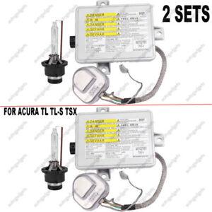 2* FOR ACURA TL TL-S TSX FACTORY XENON HID HEADLIGHT BALLAST & IGNITER & BULB 664271318488