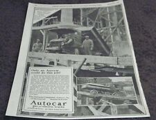 1924 AUTOCAR GAS /  ELECTRIC CARS START OF THE DUMP TRUCK GREAT FOR FRAMING