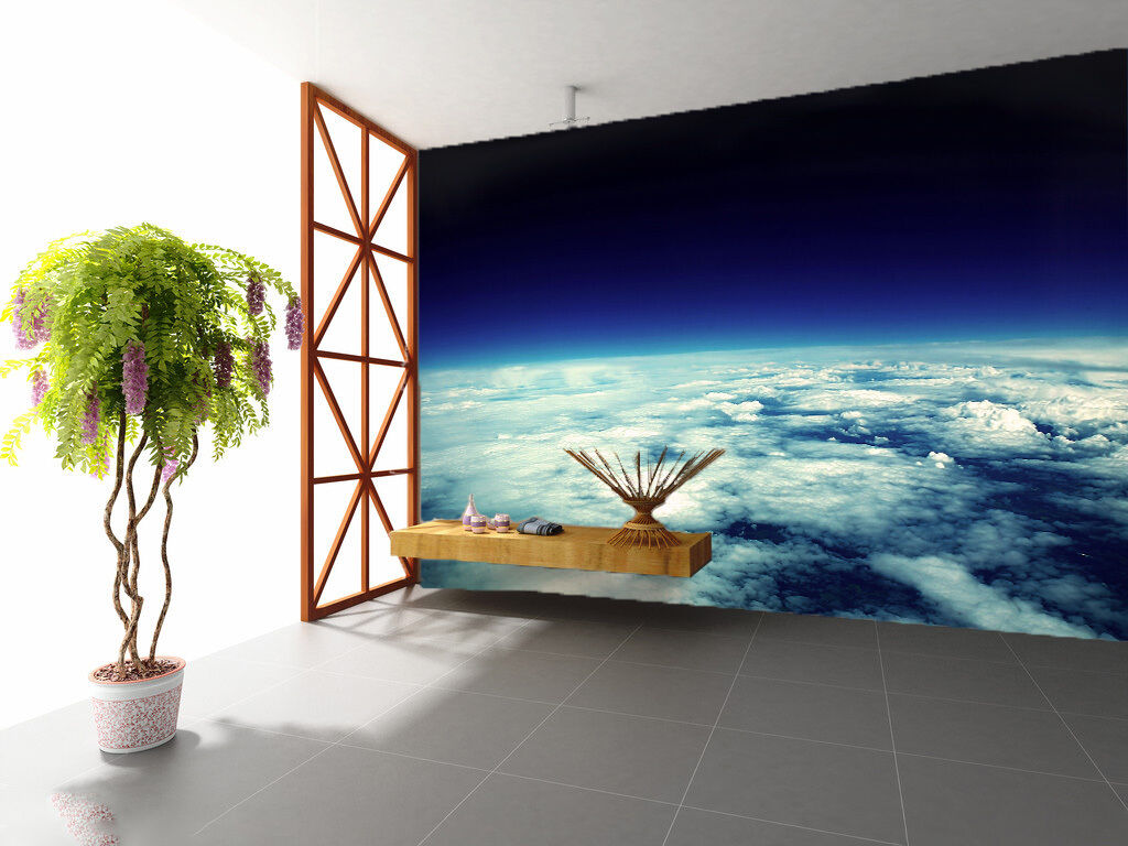 3D Blau Sky Clouds 2049 Wall Paper Wall Print Decal Wall Deco Wall Indoor Murals