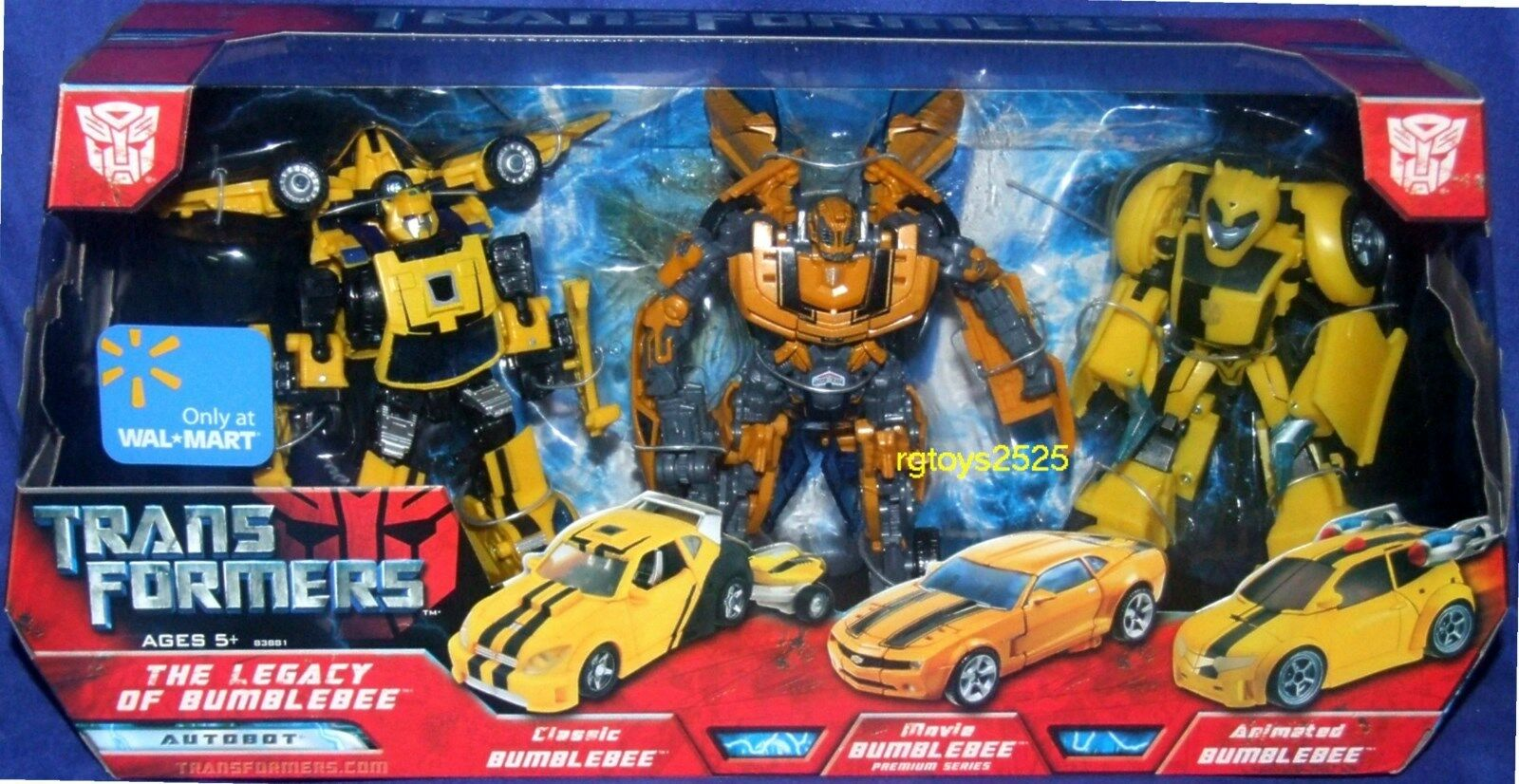 Transformers The Legacy of Bumblebee 6  Walmart Exclusive 3 Figure Set New Movie