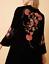 BiBa-Bohemian-Grande-Velvet-Black-FLoral-Dress-Ladies-Size-UK-18-REF170 thumbnail 2