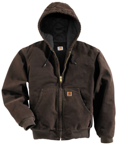 be5951851c4 Carhartt Men's Jacket Flannel Lined Sandstone Duck Active Hooded 2XL ...