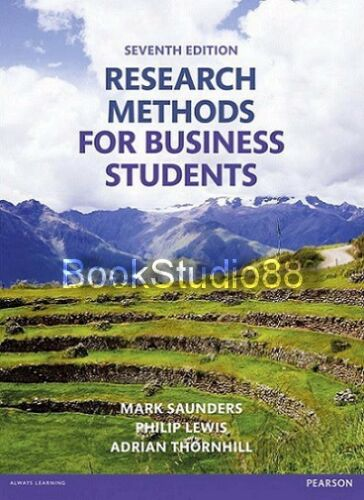 1 of 1 - NEW 3 Days to AUS Research Methods for Business Students 7E Saunders 7th Edition
