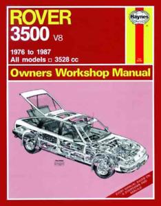 Haynes Workshop Manual Rover 3500 1976-1987 Vanden Plas Vitesse V8S Repair