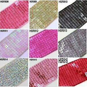1-METRE-SEQUIN-TRIM-RIBBON-CRAFT-SEWING-COSTUME-DRESSMAKING-9-COLOURS-42mm