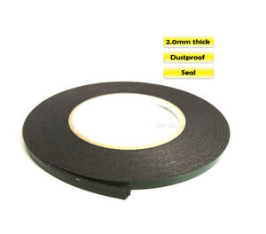 2mm-Thick-Double-Sided-Adhesive-Black-Sponge-Tape-for-Cell-PC-Car-Dustproof-Seal