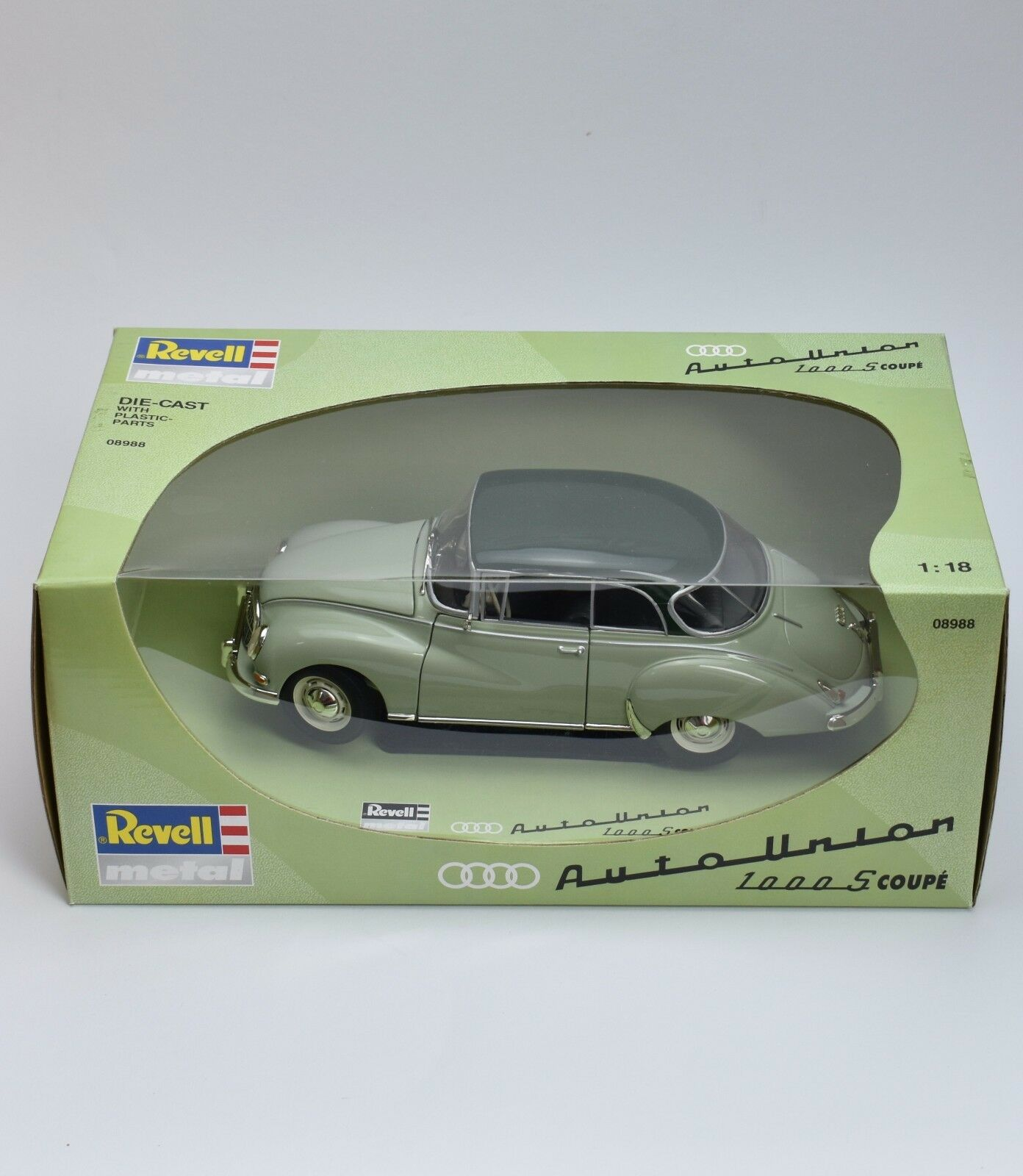 REVELL 08988 Auto Union 1000s SPORT COUPE in verde laccati, OVP, 1 18, k007