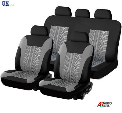 SPORTY TO FIT RENAULT CLIO MEGANE SCENIC RED CAR SEAT COVERS /& RUBBER MATS SET