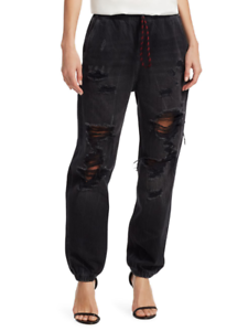T by Alexander Wang Distressed Denim Jogger Pants