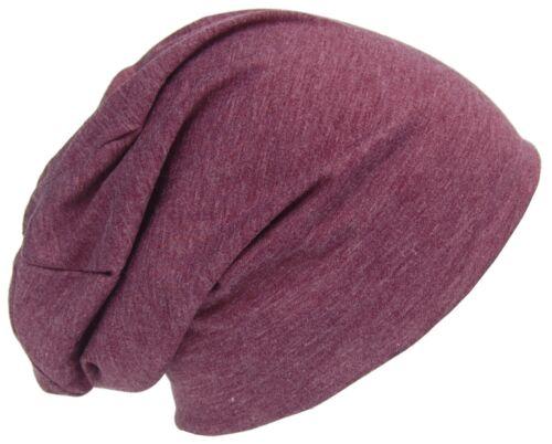 Cool4 Sommer Jersey Beanie Baumwolle meliert Slouch Chemo Unisex Mütze Cap E18