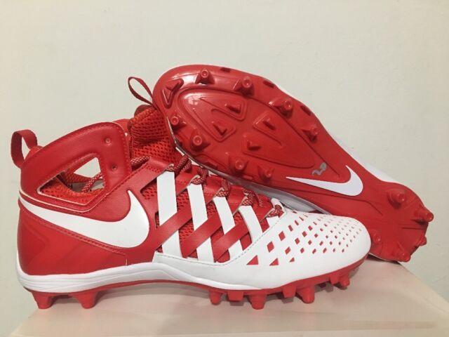 37f2b5c16 Nike Huarache V Lax Mid Mens Lacrosse Cleats LX - White Red 12 for ...
