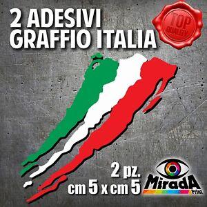 Adesivi-Sticker-GRAFFIO-ITALIA-ITALY-FLAG-BANDIERA-MOTO-AUTO-BICI-5x5-2-PZ