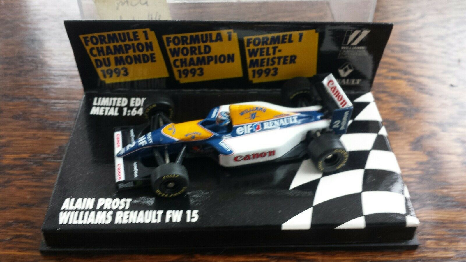 MINICHAMPS MICROCHAMPS 1 64 - MCH 936402 WILLIAMS FW 15  ALAN PROST