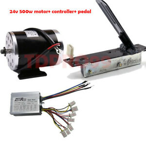 24V-500w-Brush-Motor-Speed-Controller-Foot-Pedal-Electric-Bike-Scooter-Go-Kart