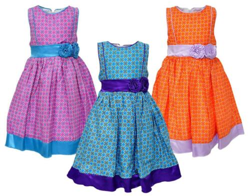Girls Butterfly Wings Sleeveless Check Summer Satin Trim Dress 2 to 4 Years