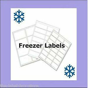 image about Printable Freezer Labels referred to as Information over A4 White Matt Self Adhesive Printable Freezer Labels Food stuff Storage Labels