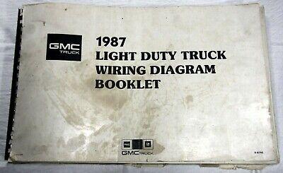 1987 GMC TRUCK - LIGHT DUTY TRUCK WIRING DIAGRAM BOOKLET ...