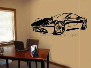 Image Is Loading Sports Car Race Car Vinyl Decal Wall Sticker
