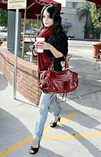 Rebecca Minkoff Wine Leather Matinee Vanessa Bag Hudgens Suede $625