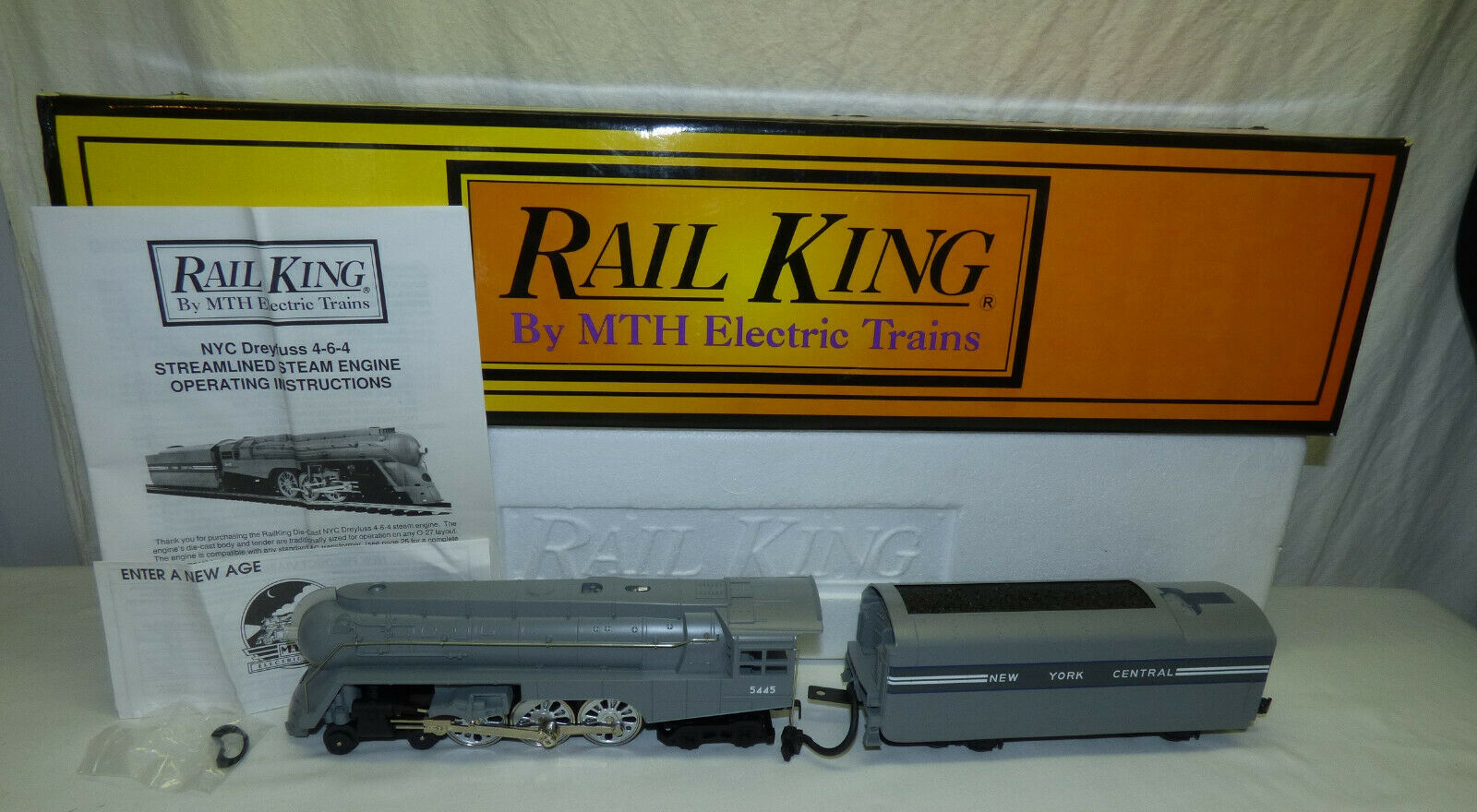 MTH Rail re 4-6-4 Ssquadra Engine NYC Dreyfuss Hudson RK-1113LP w  Prossoo-suono