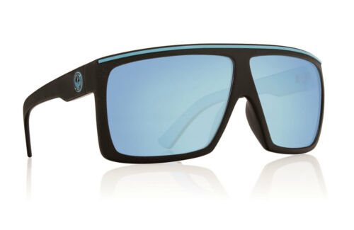 Dragon Fame Matte Black With Sky Blue Lens Sunglasses Large fit 720-2215