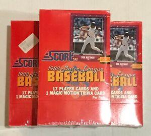 1988-SCORE-BASEBALL-UNOPENED-WAX-BOX-36-PACKS-SEALED-MCGWIRE-BONDS-PSA10-BGS10