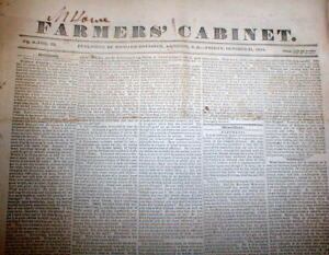 14-rare-original-1833-1834-newspapers-AMHERST-New-Hampshire-THE-FARMERS-CABINET