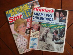 Vintage-Lot-Of-2-STAR-ENQUIRER-Magazines-1985-1986-Gossip-Celebrity