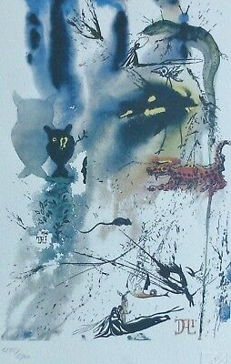 """Salvador Dali /""""MAD TEA PARTY/"""" Signed Numbered Art Lithograph"""
