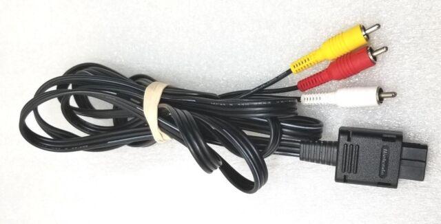OFFICIAL ORIGINAL OEM Super Nintendo 64 Gamecube SNES AV RCA Video Cable *CLEAN